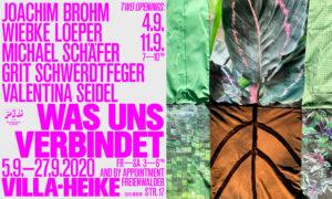 05.-27.09.2020 Ausstellung mit Joachim Brohm, Michael Schäfer, Grit Schwerdtfeger und Valentina Seidel, Villa Heike, Berlin